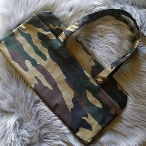 NWT J Crew Canvas Camo Tote Bag